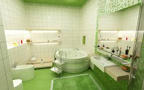 awesome white green stainless glass cool design bathroom