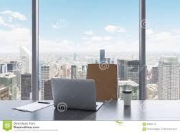 Office View by A Workplace In A Modern Panoramic Office With New York View A