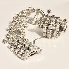silver rhinestone bracelet images Kramer silver vintage of ny rhinestone crystal sterling bracelet jpg