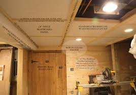 diy basement beadboard ceiling details with removable sections