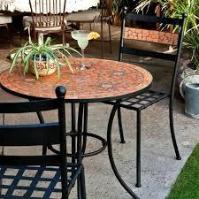 small patio table set luxury round mosaic dining set patio furniture baka 233