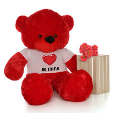 valentines day teddy bears 6 foot size s day teddy bears in be mine