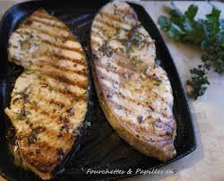 cuisiner l espadon espadon grillé au thym citron fourchettes papilles en joie