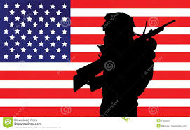 Smerican Flag Soldier And American Flag Stock Illustration Image Of Patriotic