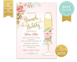 chagne brunch invitations brunch and bubbly bridal shower invitation bridal brunch