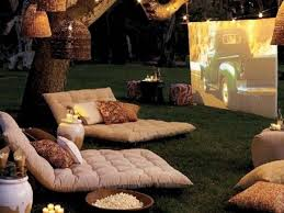 Backyard Theater Ideas Summer Diy Build A Backyard Theater