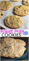 these perfect party cookies start with a cake mix and are full of