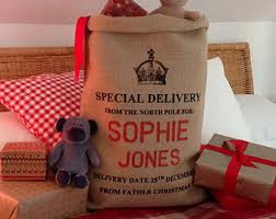 personalised sacks by silverbobbin on etsy