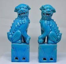 foo dog bookends turquoise foo dogs ebay