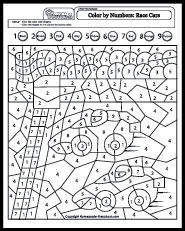 this page has a bunch of color by number sheets things i want to