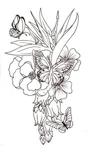 butterfly and flower designs 55 butterfly flower tattoos