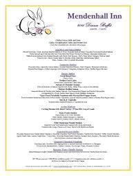 Easter Brunch Buffet Menu by Mendenhall Inn On Twitter