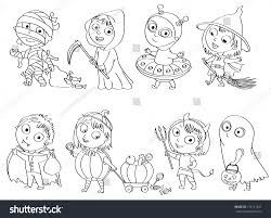 happy halloween funny picture happy halloween funny little children colorful stock vector