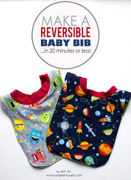 you will this easy to reversible baby bib tutorial with