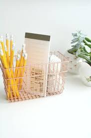 Wire Desk Organizer by Diy Copper Desk Tidy Burkatron