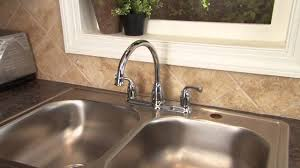 how to install a two handle kitchen faucet step 9 two handle how to install a two handle kitchen faucet step 9 two handle centerset faucet