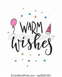 warm wishes lettering typography congratulations warm eps