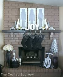painted brick fireplace marvelous black n n fiery all over hip