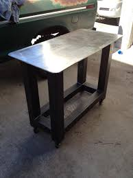plate table top avoid metal warping on shop table top and legs pirate4x4 com 4x4