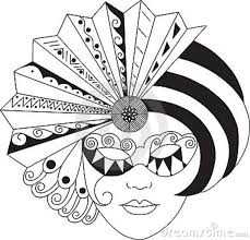 black and white mardi gras masks mardigras stock illustrations vectors clipart 20 stock