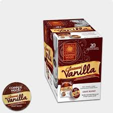 copper moon caramel vanilla flavored coffee filter pods k cup