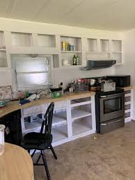 can mobile home kitchen cabinets be painted mobile home remodel before and after our re purposed home