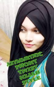 video tutorial turban style asymmetric front twist hijab style with single pashmina farzana