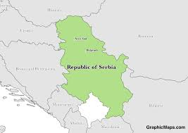 Map Of Serbia Serbia Graphicmaps Com