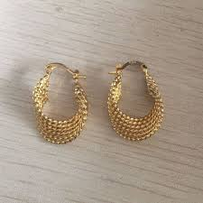small gold earrings fashion new small gold color twisted hoop earrings for women 2017