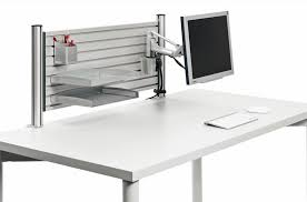 Ergonomic Computer Desk Setup Desk Accessories Ergonomic Desktop Accessories Slat Wall Desk