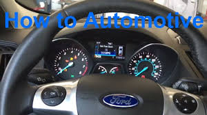 wrench light on ford escape how to reset the maintenance light on a 2015 ford escape youtube