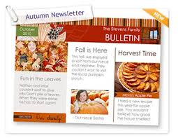 newsletter cuisine in smilebox autumn newsletter grandparents day greeting