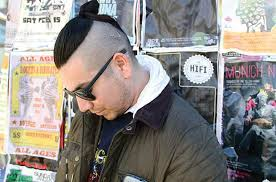 mun hair nice bun where you from the bun is the rage for long haired men