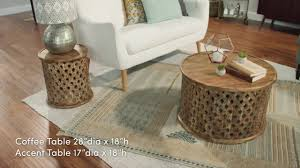 Novelty Coffee Tables by Tribal Carved Wood Accent Table World Market