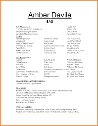 Sample Acting Resume For Beginners by Theatre Acting Sample Resume Please Check Here Specially For