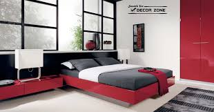 Red And White Modern Bedroom Bedroom Red Lacquered Fitted Wardrobe In Modern Bedroom With
