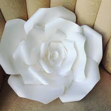 Paper Roses Diy Large Paper Rose Youtube