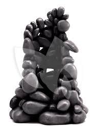 biorb ornament kiezelsteen zwart klein aquarium decoratie