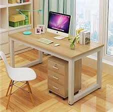 Walnut Home Office Desk Comfortableplus Modern Simple Computer Desk Pc Laptop Study Table