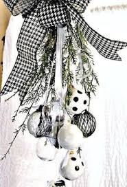 black and white ornament swag more handcrafted