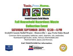 household hazardous waste day iredell county nc