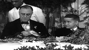 president roosevelt and his eleanor at a thanksgiving