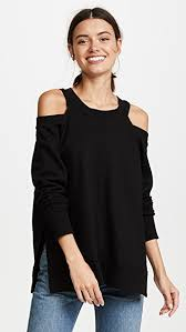 cold shoulder sweaters daniel cold shoulder sweatshirt shopbop