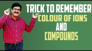 trick to remember colour of ions and compounds by er dushyant