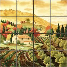 tuscany tile mural pacifica tile art studio pryde pinterest