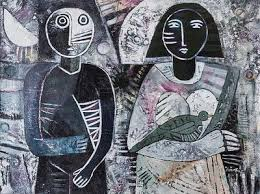 amazon signed picasso black friday signed black and white cubist painting from peru u0027moonlight
