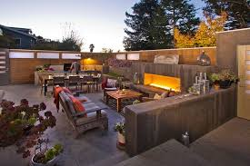 build backyard barbecue deck transitional with outdoor grill