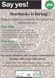 starbucks is hiring youth employment services yes