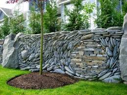 decorative garden fence panels and walls with natural stone dolf