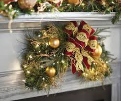 Outdoor Garland With Lights by Christmas Wreaths And Garland At The Home Depot